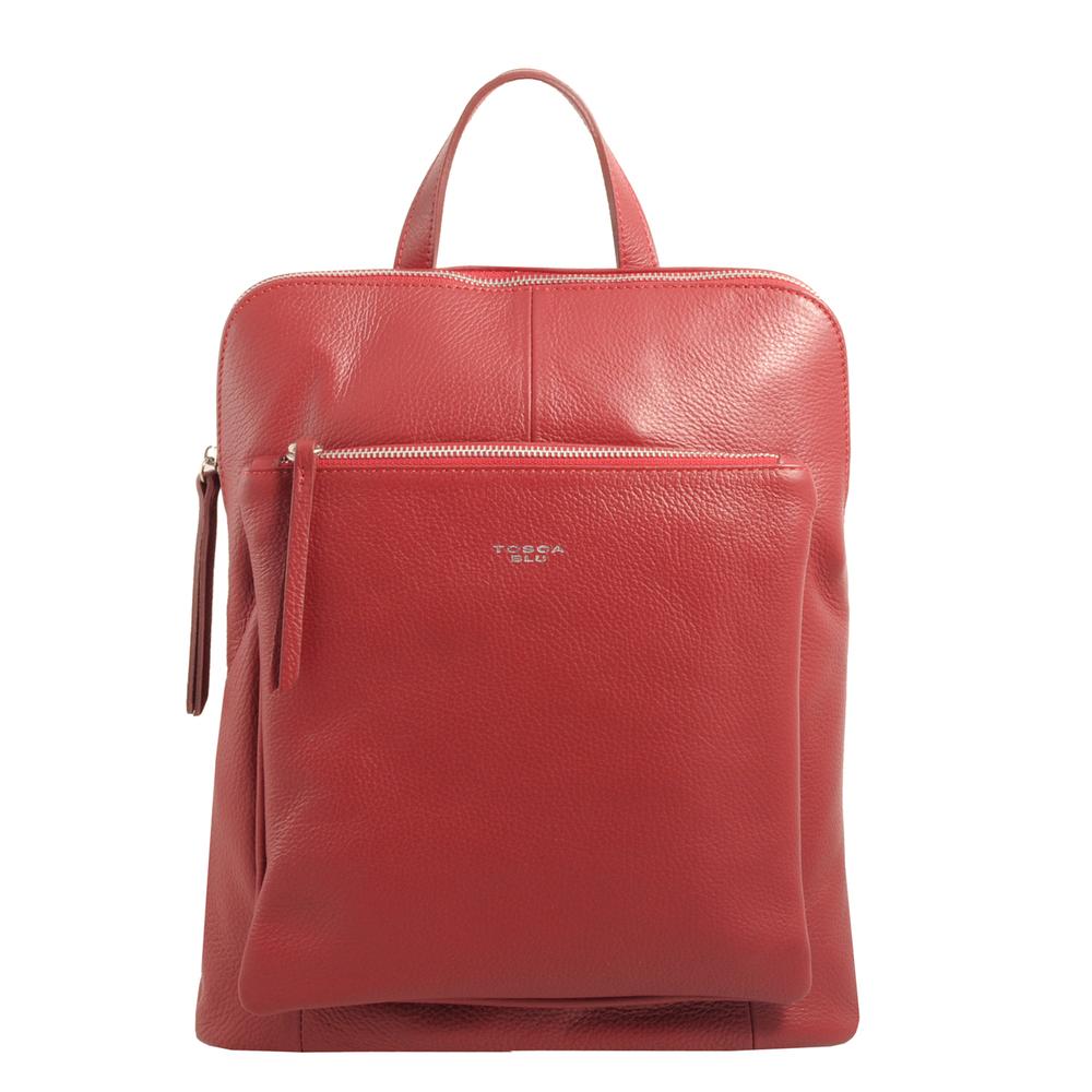 Tosca Blu-Tosca Blu Essential Leather u-zip backpack
