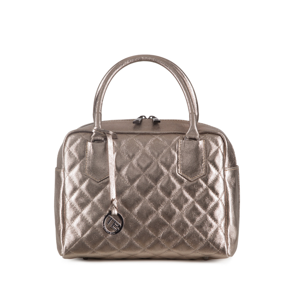 Tosca Blu-Tosca Blu Essential Quilted leather boston bag