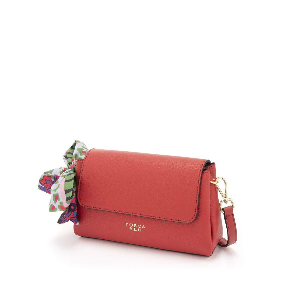 Tosca Blu-Alghero Flap Crossbody bag with foulard