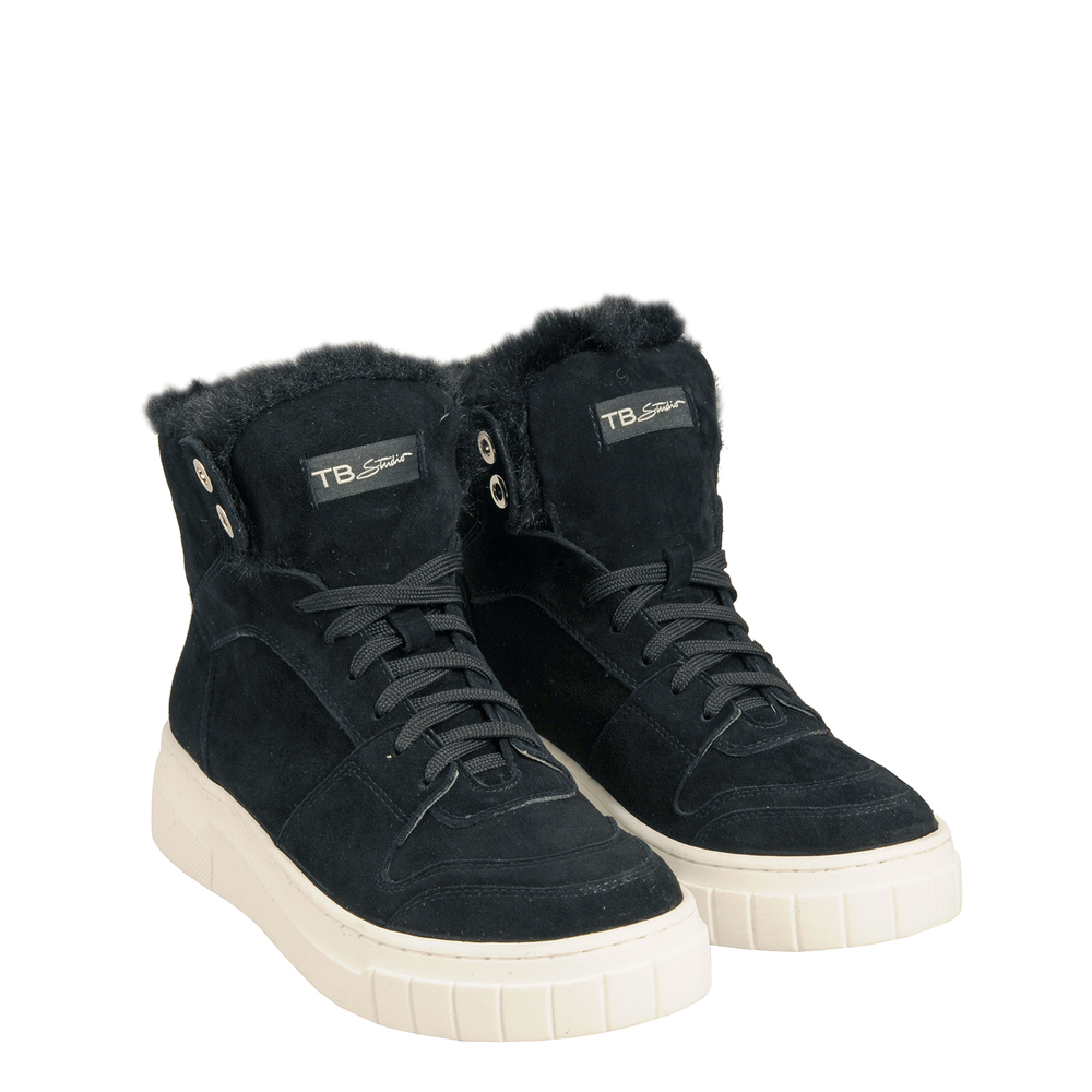 Tosca Blu Studio-Sir Biss Leather and faux fur high sneaker