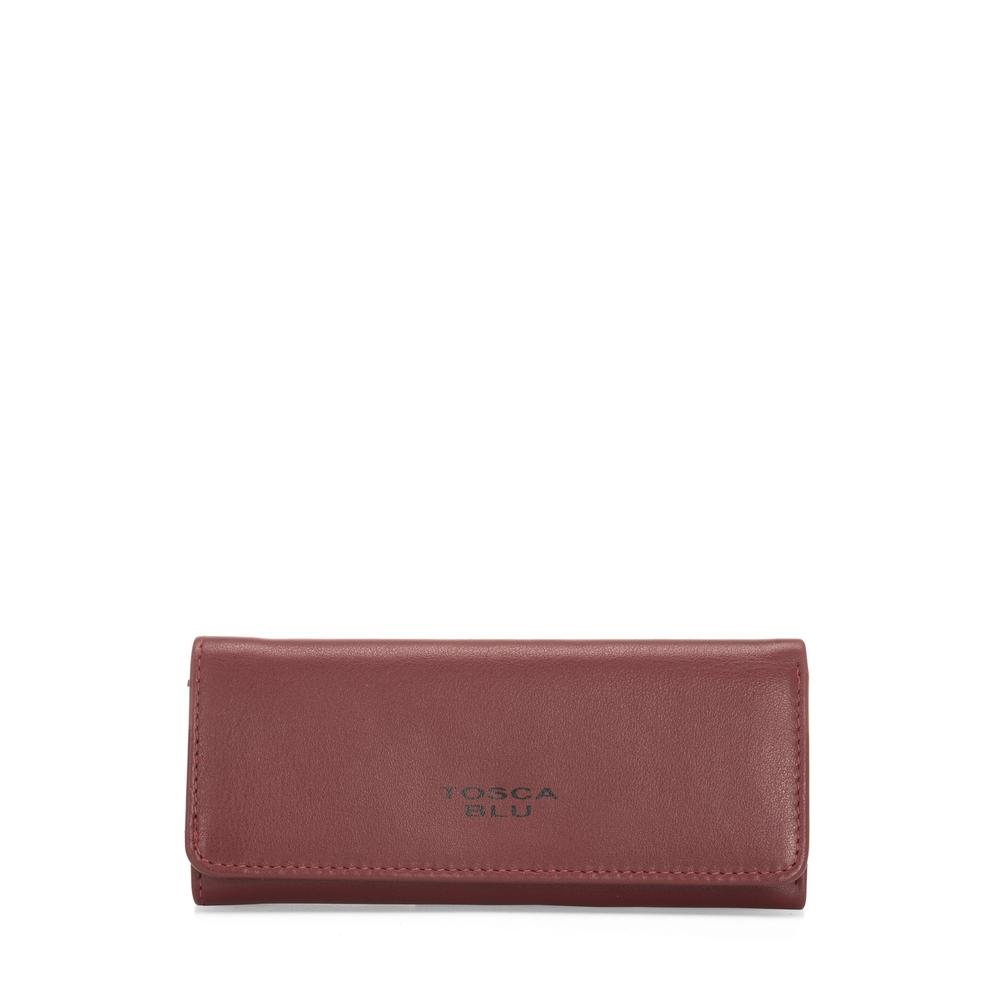 Tosca Blu-Basic Wallets Leather keyring with logo