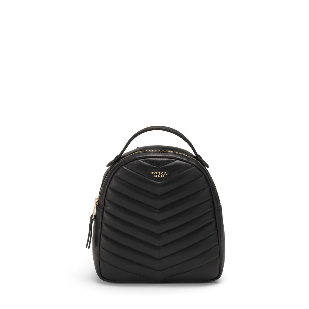 Tosca Blu-Baghera Quilted leather backpack