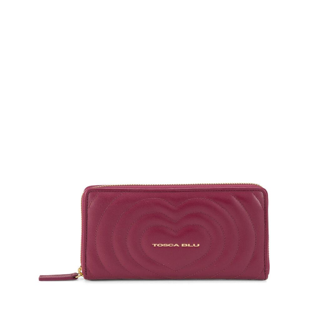 Tosca Blu-Regina Di Cuori Large quilted leather wallet