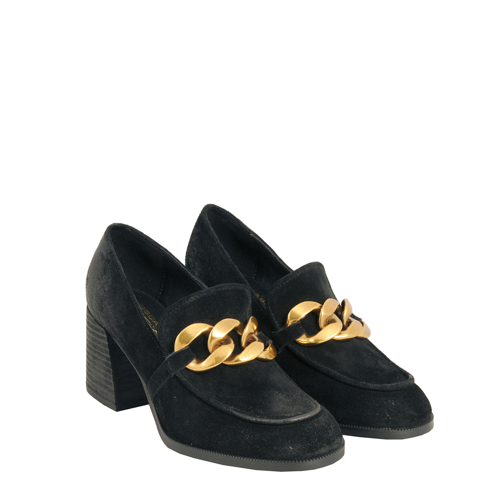Tosca Blu Studio-Bosco High heel loafer in leather with chain
