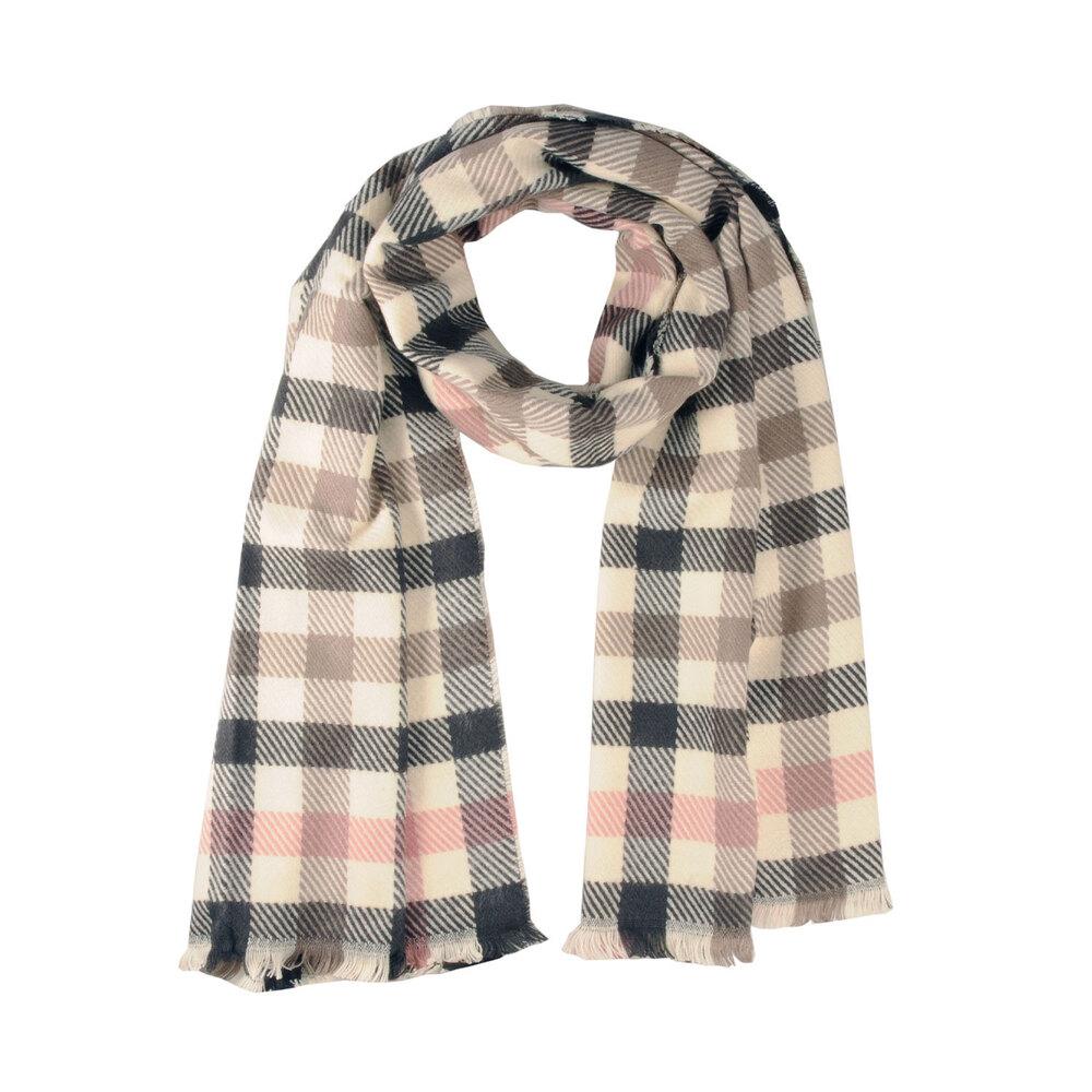 Tosca Blu-Anemone Checkered scarf