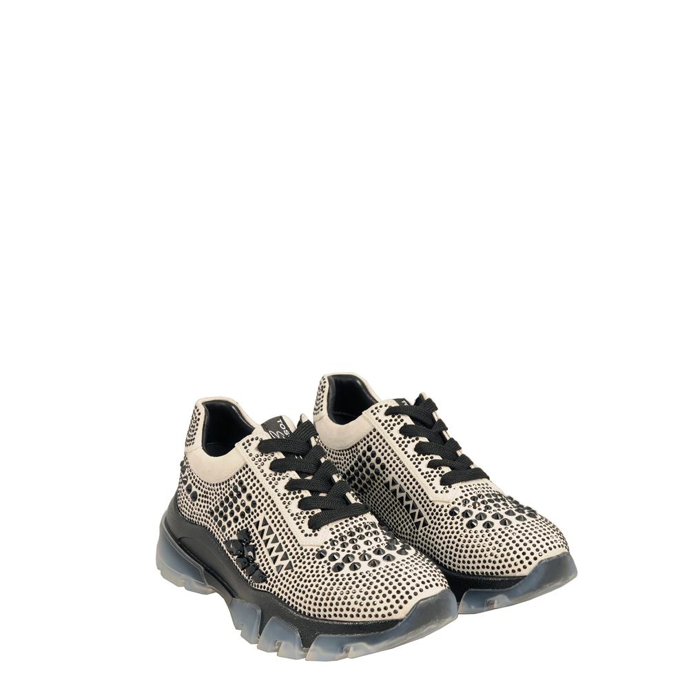 Tosca Blu Studio-Sirenetta Sneaker with transparent sole and jewel stones