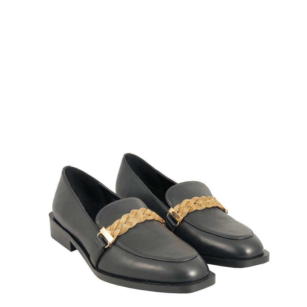 Tosca Blu Studio-Barbablu Leather loafer with chain