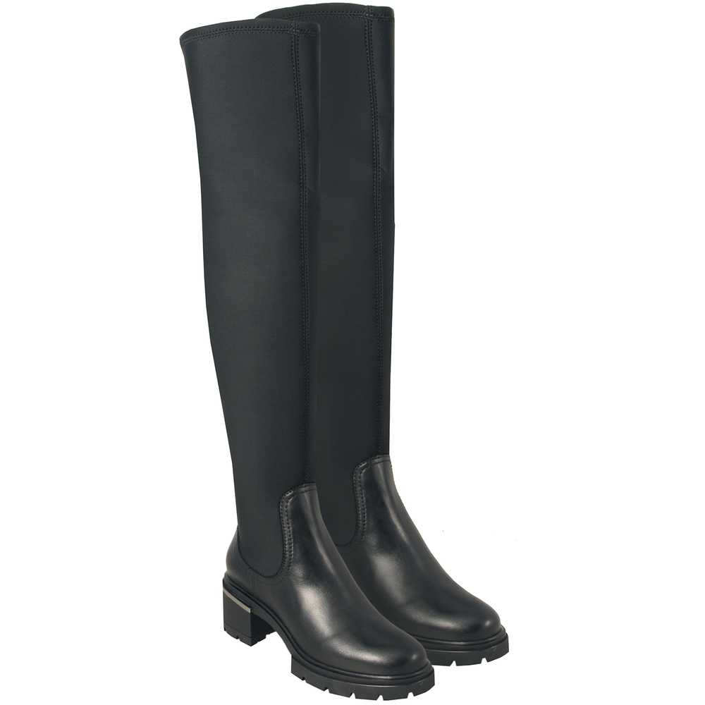 Tosca Blu Studio-Gnomo Stretch leather high-heeled boot