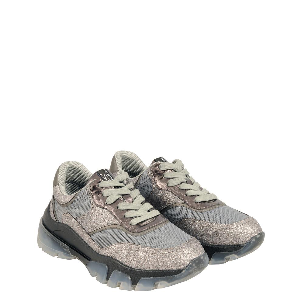 Tosca Blu Studio-Sirenetta Glitter sneaker with transparent sole