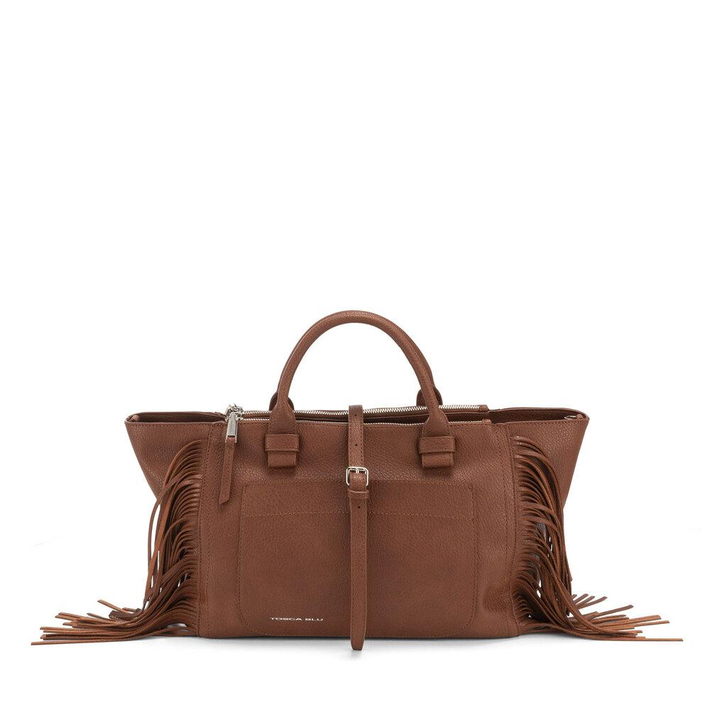 Tosca Blu-Re Leone Large handbag with fringes