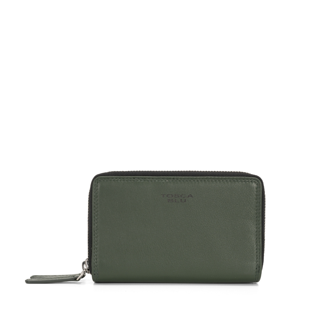 Tosca Blu-Basic Wallets Medium leather wallet with logo