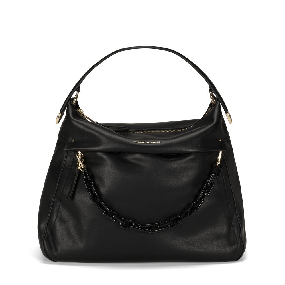 Tosca Blu-Pollicino Leather slouchy bag