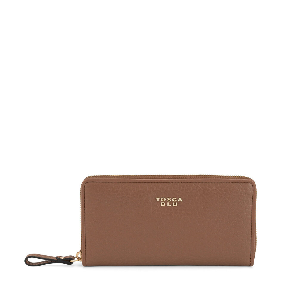 Tosca Blu-Hansel E Gretel Large tumbled leather wallet with logo
