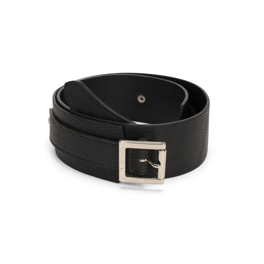 Tosca Blu-Tosca Blu High leather belt with double buckled