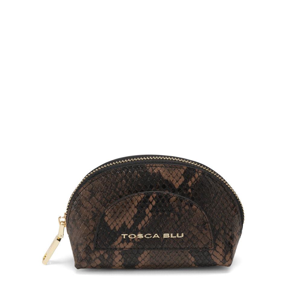 Tosca Blu-Libro Della Giungla Make-up bag with snakeskin print