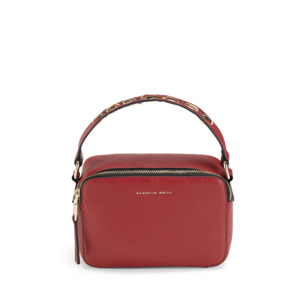 Tosca Blu-Lampone Small tumbled leather handbag