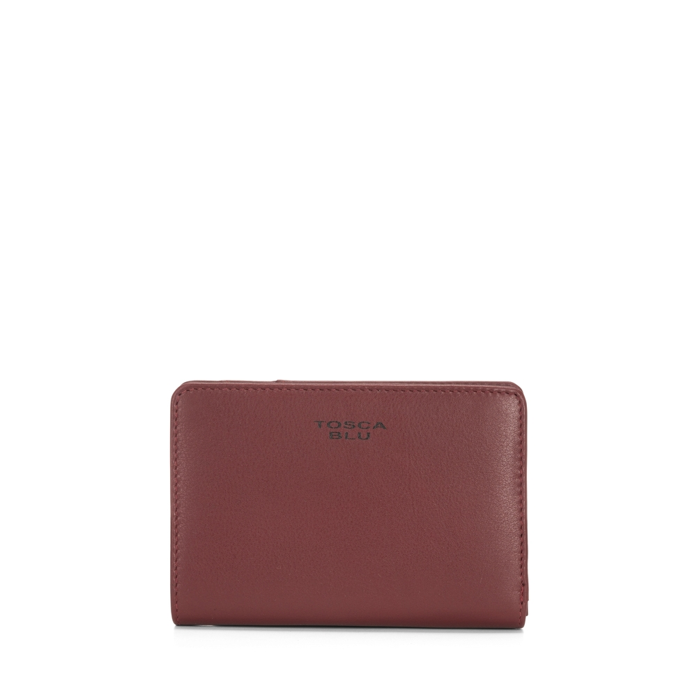 Tosca Blu-Basic Wallets Medium leather wallet with double opening