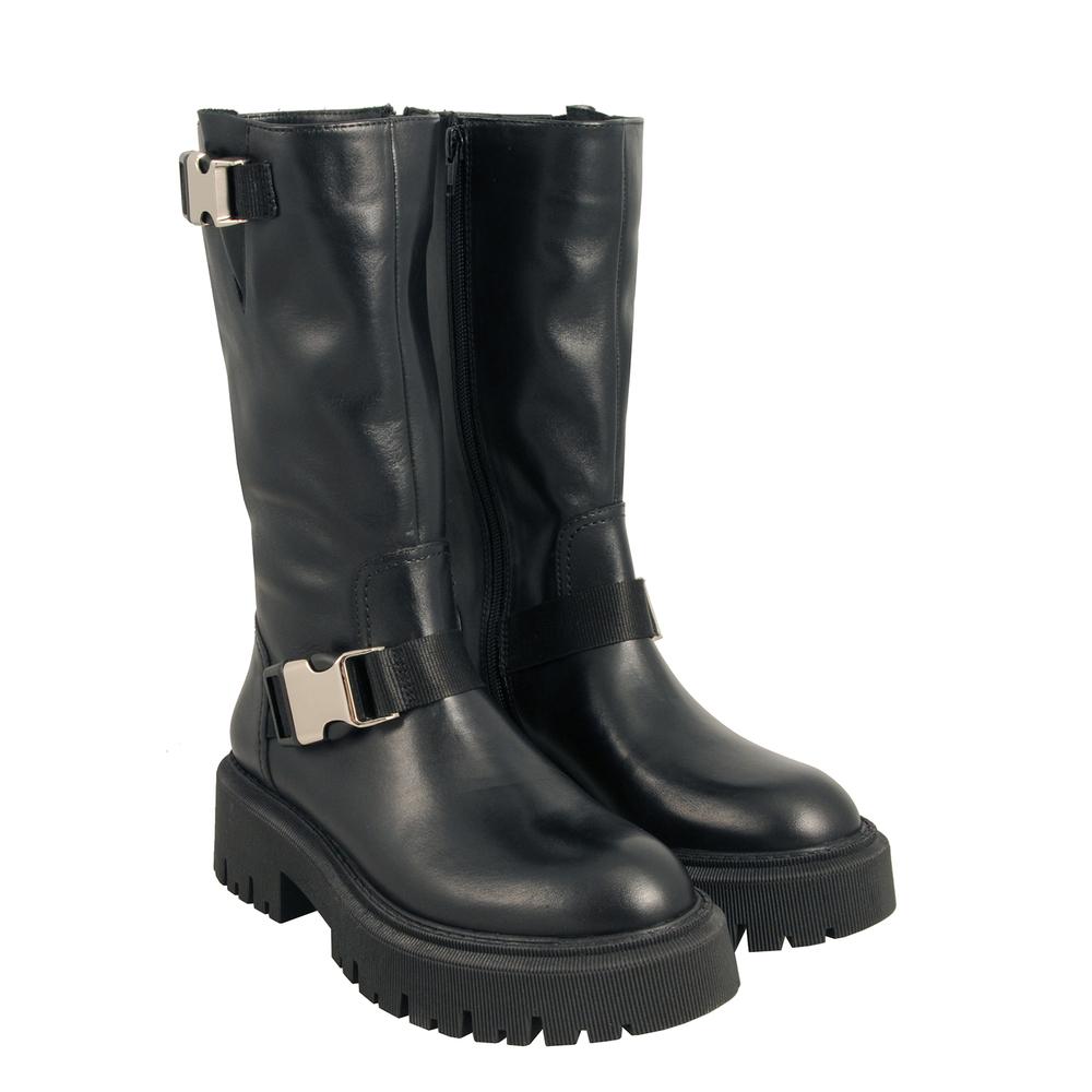 Tosca Blu Studio-Incantesimo Leather boot with rubber sole