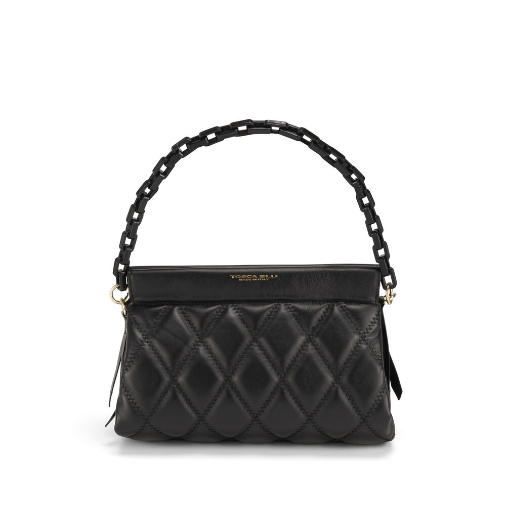 Tosca Blu-Cappuccetto Rosso Quilted leather crossbody bag