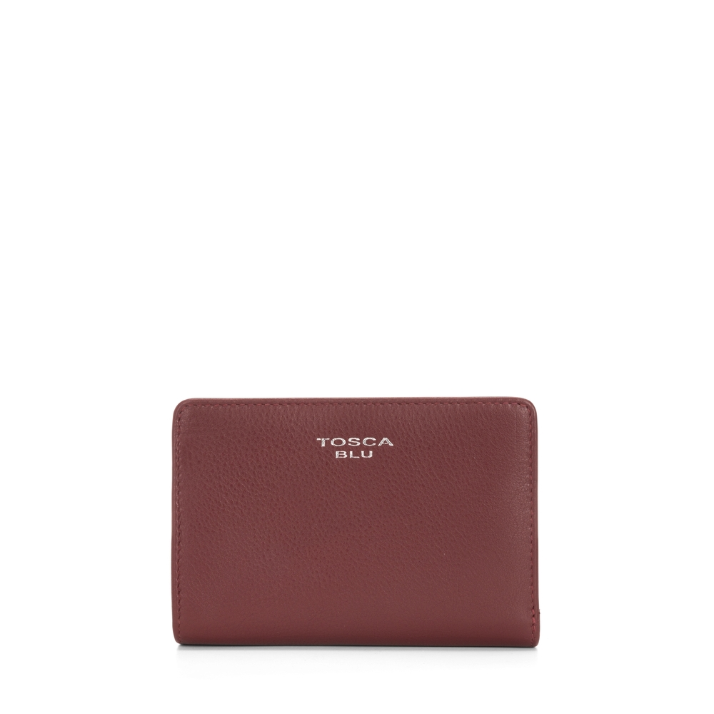 Tosca Blu-Button Wallets Medium leather wallet with double opening