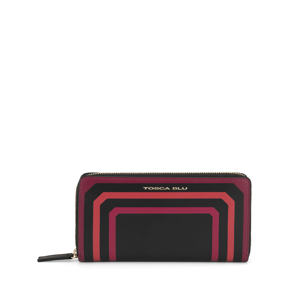 Tosca Blu-Biancaneve Large wallet with two-tone leather