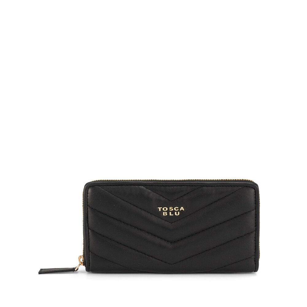 Tosca Blu-Baghera Large quilted leather wallet