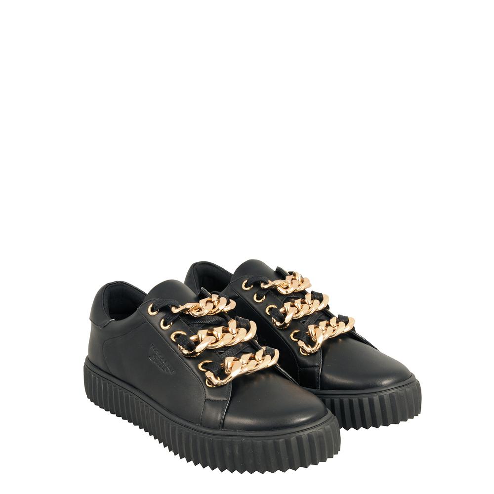 Tosca Blu Studio-Topolino Sneaker with triple chain on laces