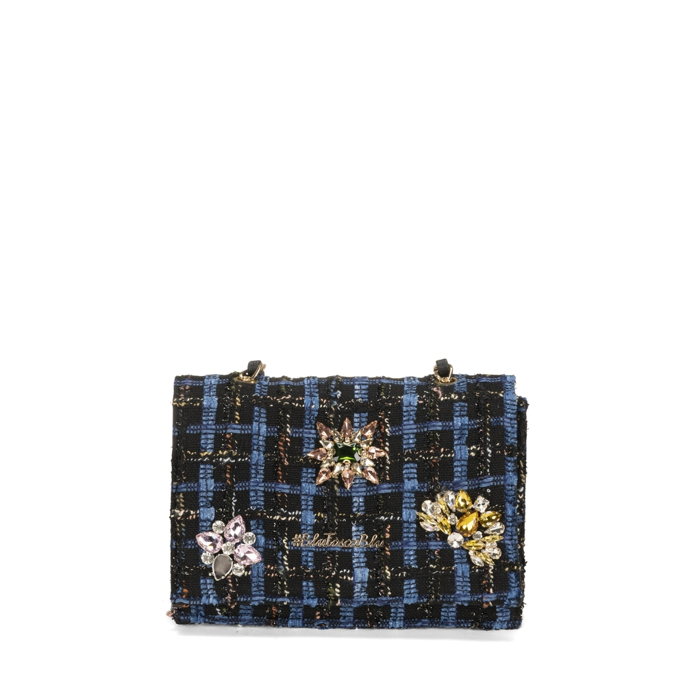 #BluToscaBlu-Cambridge Crossbody bag with embroidery and jewel details