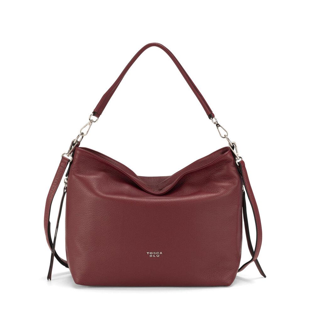 Tosca Blu-Frutti Di Bosco Leather slouchy bag
