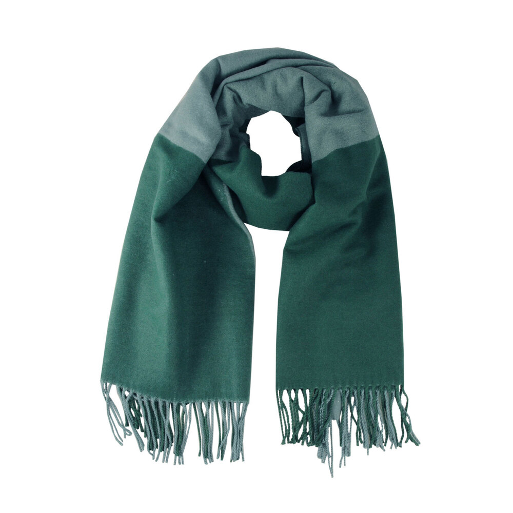 Tosca Blu-Narciso Two-tone checkered scarf with fringes