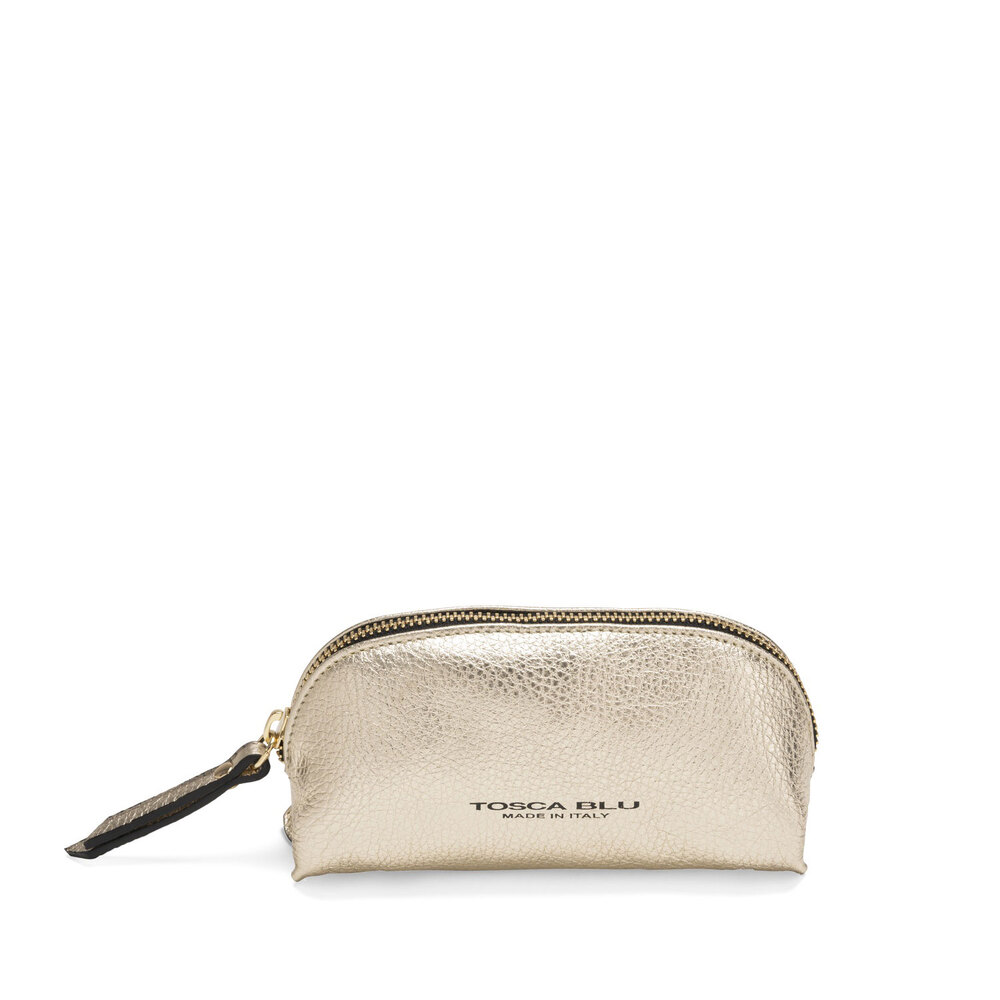 Tosca Blu-Trilly Tumbled leather make-up bag
