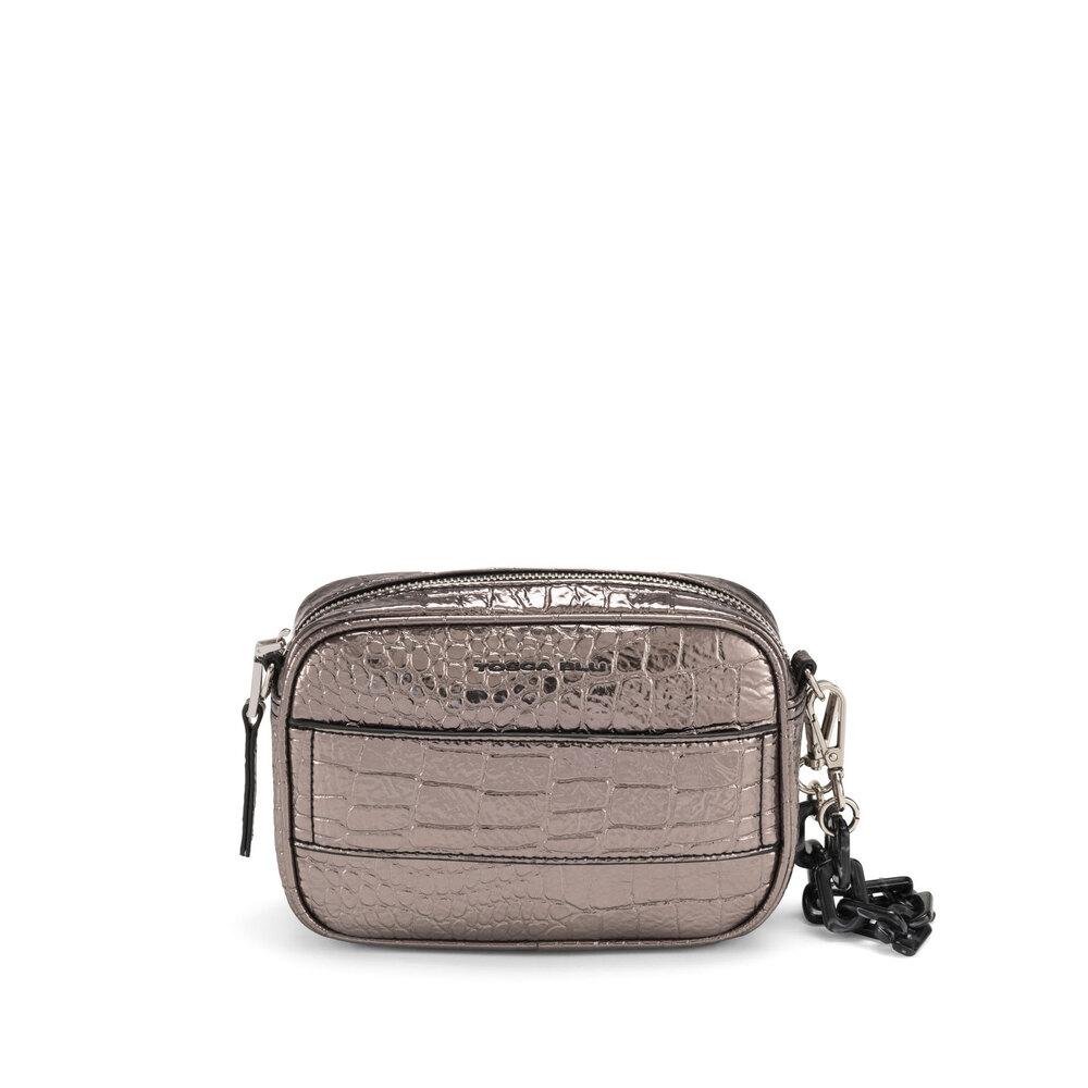 Tosca Blu-Wonderland Small crossbody bag with crocodile print