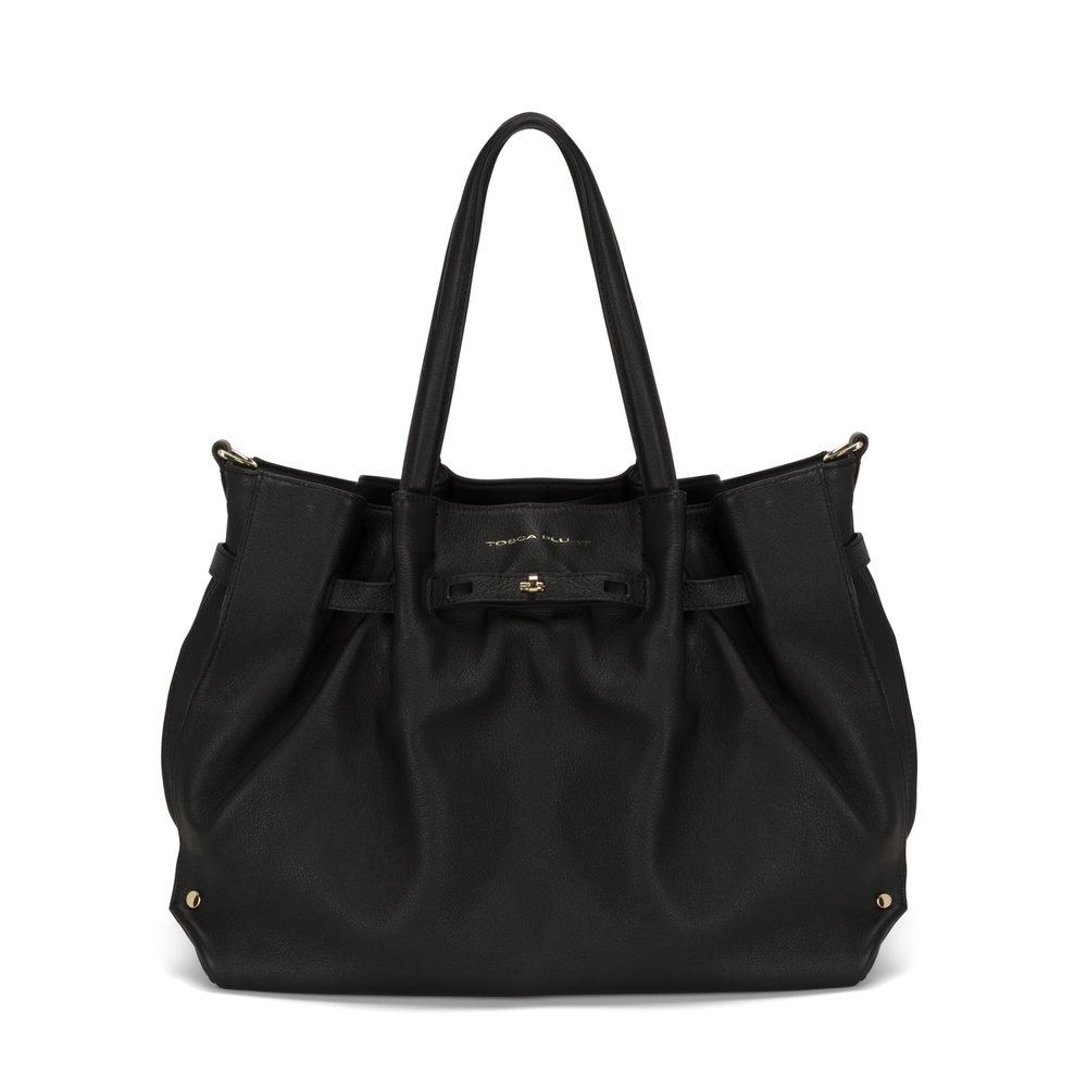 Tosca Blu-Ribes Tumbled leather tote bag