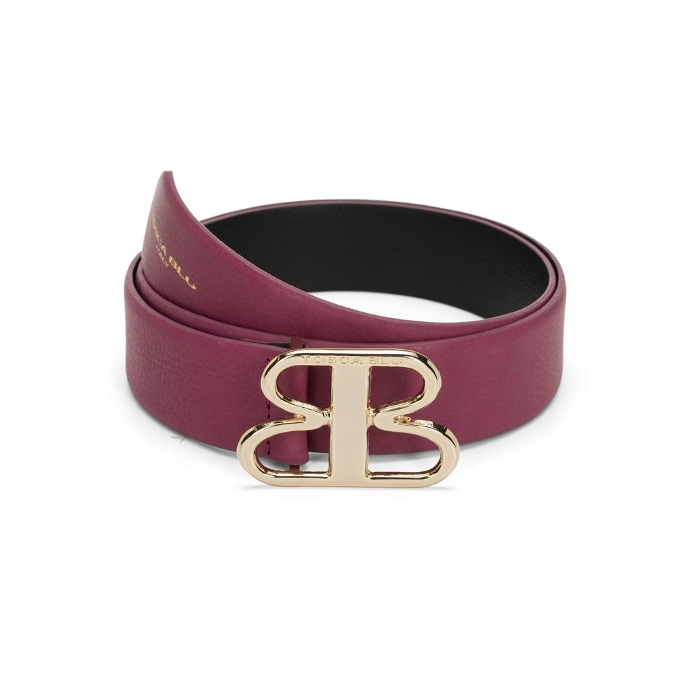 Tosca Blu-Tosca Blu Regular leather belt with TB buckle