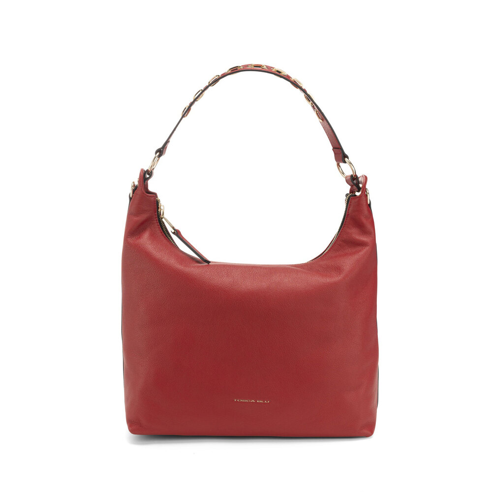 Tosca Blu-Lampone Tumbled leather slouchy bag
