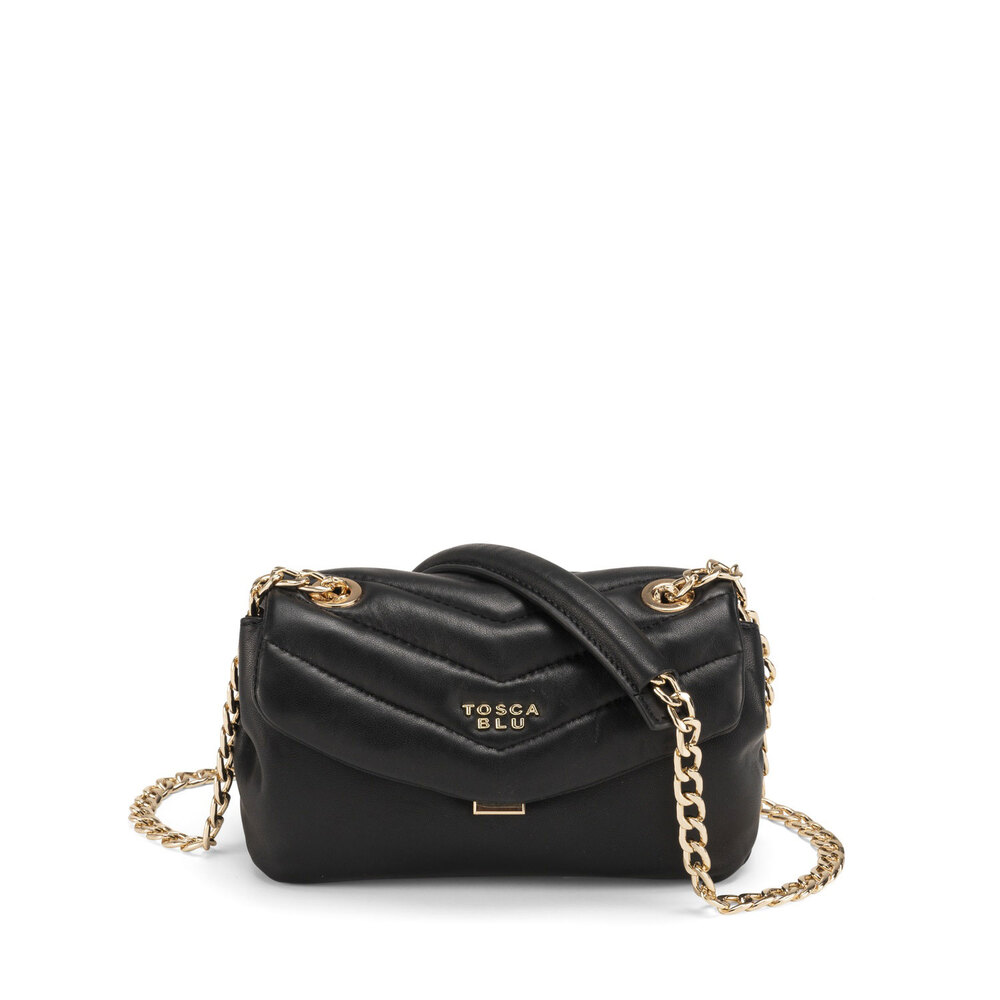 Tosca Blu-Baghera Small crossbody bag in quilted leather with chain