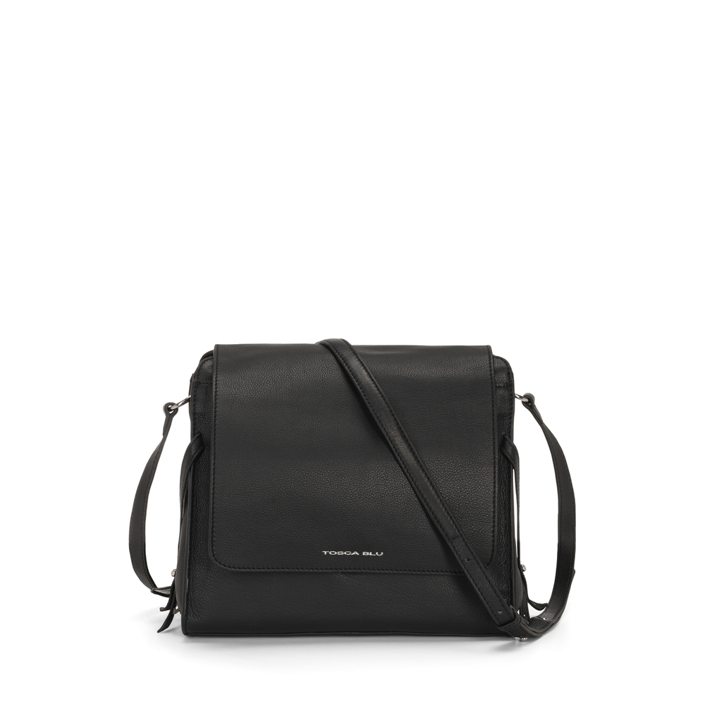 Tosca Blu-Magia Flap leather crossbody bag