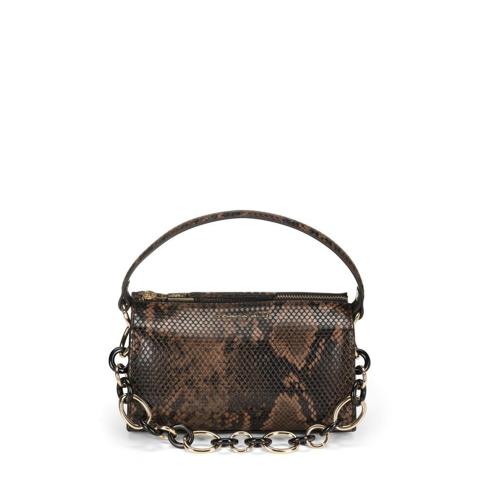 Tosca Blu-Libro Della Giungla Small crossbody bag with snakeskin print
