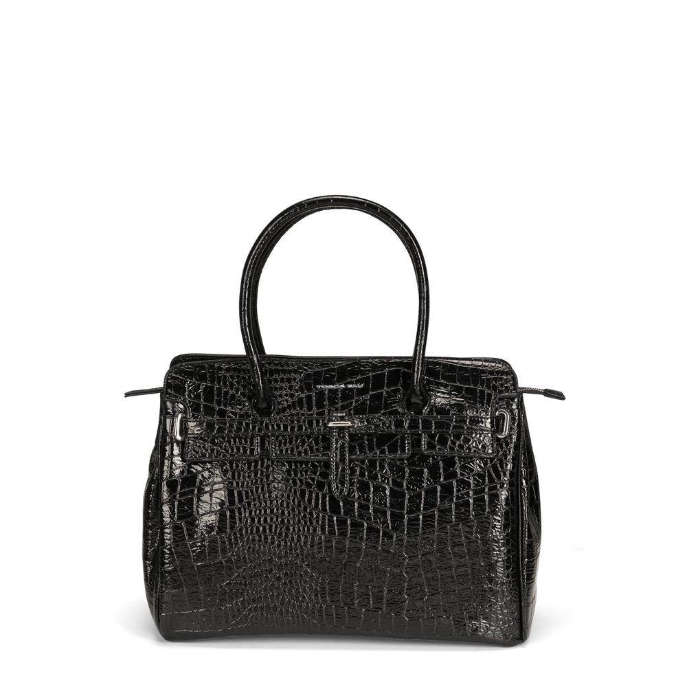 Tosca Blu-Wonderland Large shoulder bag with crocodile print