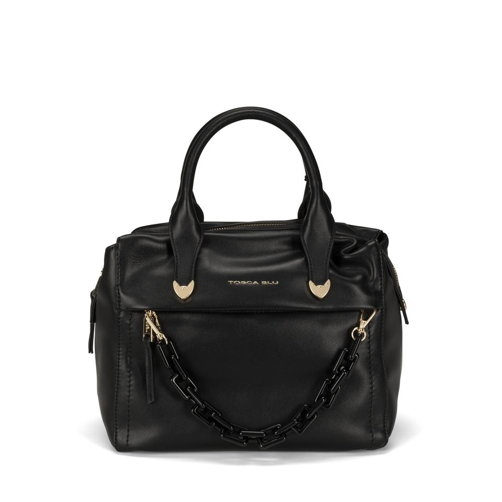 Tosca Blu-Pollicino Leather boston bag