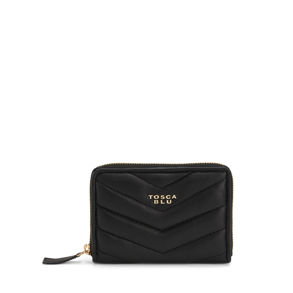 Tosca Blu-Baghera Small quilted leather wallet
