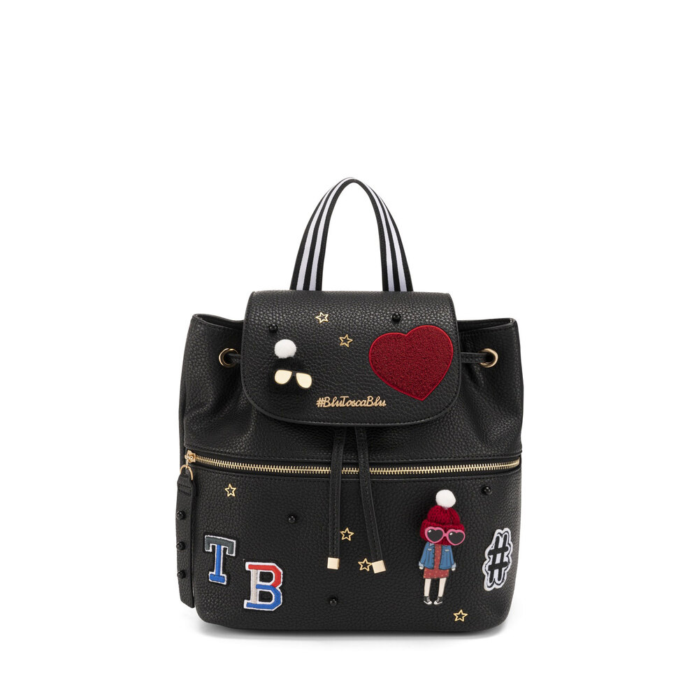 #BluToscaBlu-Yale Backpack with appliqués