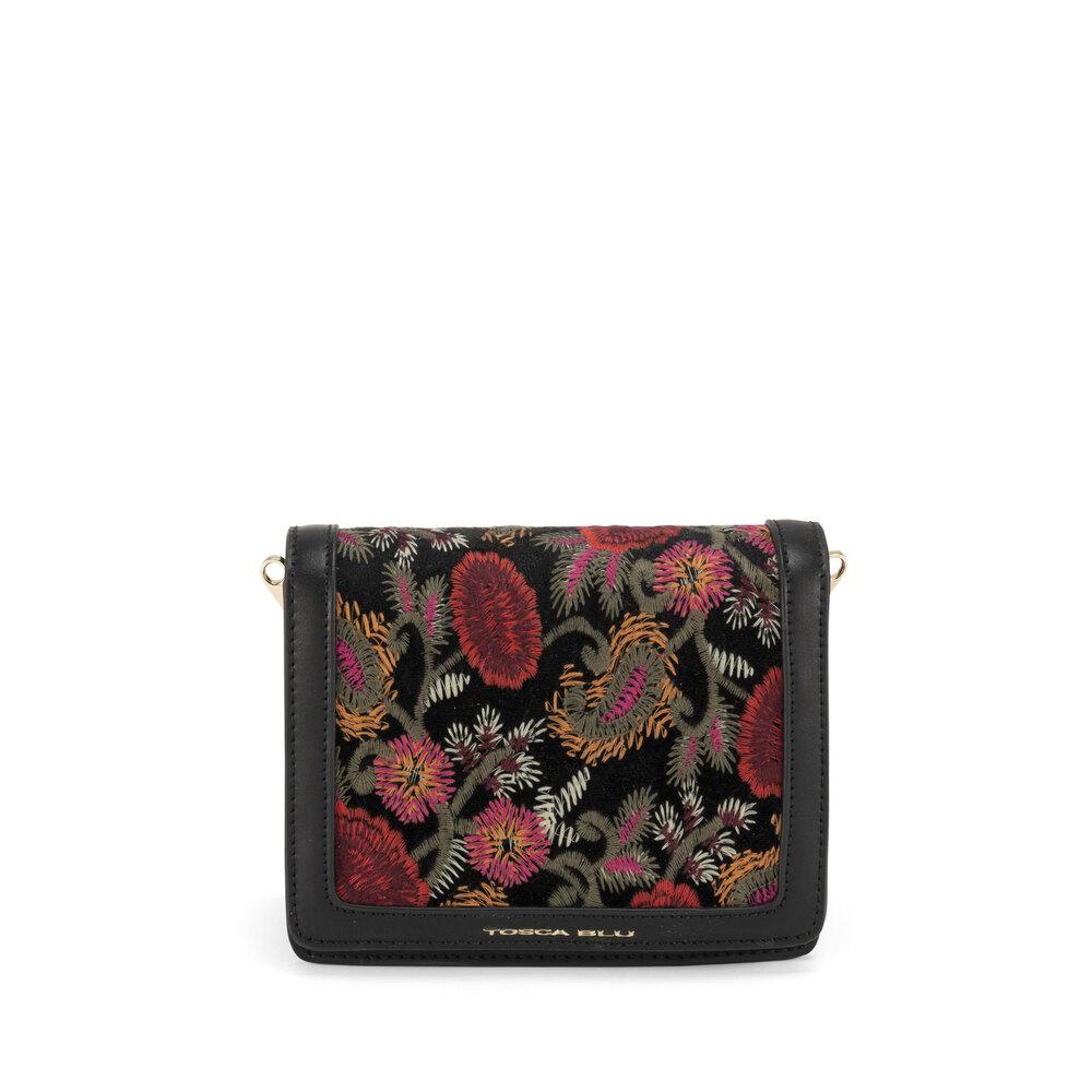 Tosca Blu-Tris Embroidered panel crossbody bag