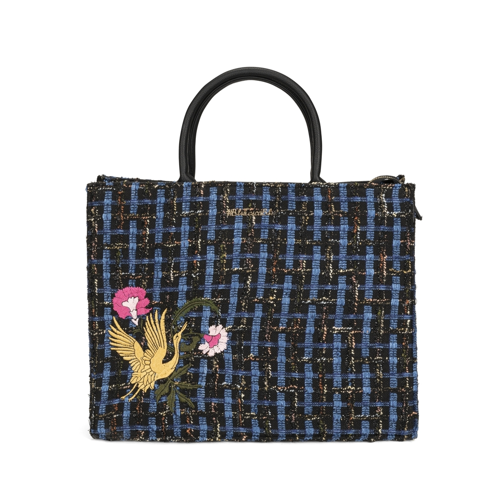 Cambridge Tote bag with embroidery and jewel details, multicolour