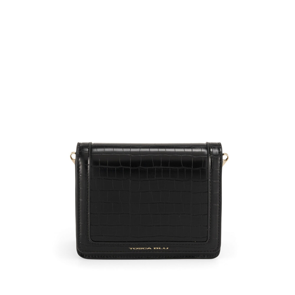 Tosca Blu-Tris Small crossbody bag with crocodile print